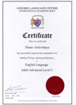 OLC Certificate advance Level 5